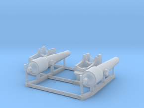 2 X 1/192 Navy Parrott 150 lb Rifled Cannon in Smooth Fine Detail Plastic