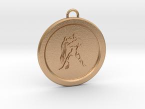 aquarius-pendant in Natural Bronze