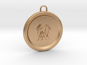 gemini-pendant in Natural Bronze