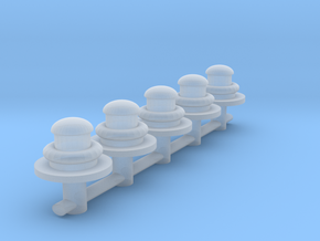 S Scale gas lamps  in Smoothest Fine Detail Plastic
