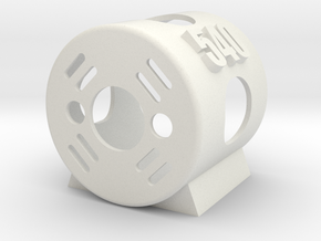 540 Motor Mount in White Natural Versatile Plastic