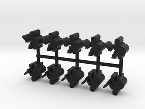 Skeleton Warrior, 11mm Small, 10-set in Black Natural Versatile Plastic
