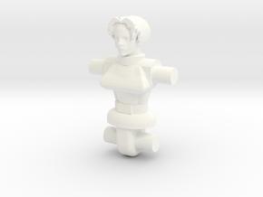 Cyborg Lady Diaclone Driver Torso in White Processed Versatile Plastic
