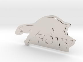 FOXY Badge 1.0 in Rhodium Plated Brass