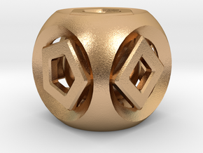 Geometric Inner Bearing Die in Natural Bronze (Interlocking Parts)