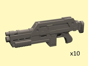 28mm M41 pulse rifle in Smoothest Fine Detail Plastic