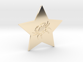 star-cancer in 14K Yellow Gold