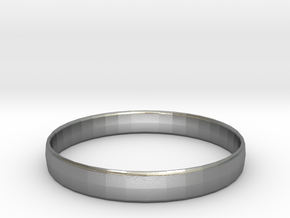 Ima Edgededges Bangle - Bracelet in Natural Silver: Extra Small