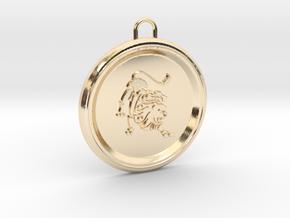 leo-pendant in 14K Yellow Gold