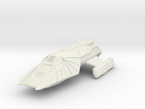 "Klingon Shuttlecraft 1.6"" long in White Natural Versatile Plastic"