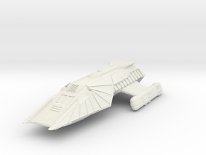 "Klingon Shuttlecraft  5.3 "" long in White Natural Versatile Plastic"