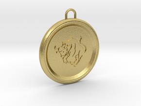 taurus-pendant in Natural Brass