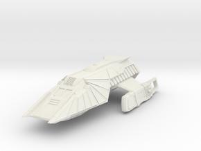 Klingon Shuttlecraft  Refit in White Natural Versatile Plastic