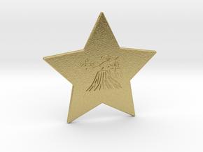 star-virgo in Natural Brass