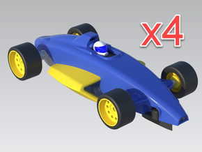 1:32 Formula Ford V3 - x4 Cars in White Natural Versatile Plastic