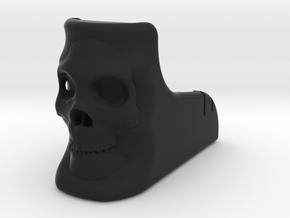 Skull M4 Mag Well Grip in Black Natural Versatile Plastic