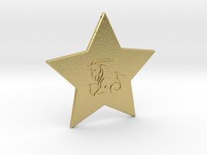 star-capricorn in Natural Brass