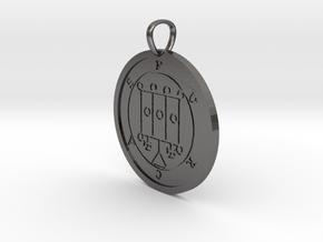 Furcas Medallion in Polished Nickel Steel