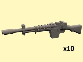 28mm dieselpunk laser rifles in Smoothest Fine Detail Plastic