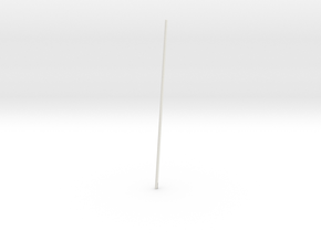 Schooner Zodiac - Main Mast in White Natural Versatile Plastic