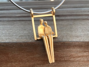 Close to Me Pendant- without chain in Polished Gold Steel