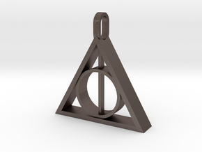 Deathly Hallows Pendant: V2 in Polished Bronzed-Silver Steel