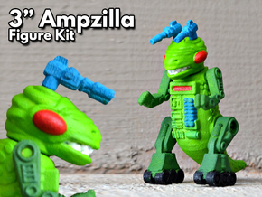 "Ampzilla, 3"" Version  in White Natural Versatile Plastic"