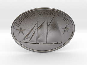 Schooner Zodiac Belt Buckle - Passenger Version in Polished Nickel Steel
