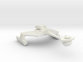 3788 Scale Romulan KRM Mauler Cruiser (Smooth) in White Natural Versatile Plastic