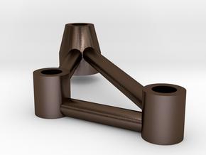 Thundershot Tubular Steel C4/C6 part Left in Polished Bronze Steel