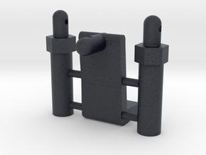 Tamiya Thundershot B10, B15 body mount parts in Black Professional Plastic