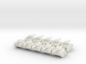 Battle Tank Company for Epic 40K in White Natural Versatile Plastic