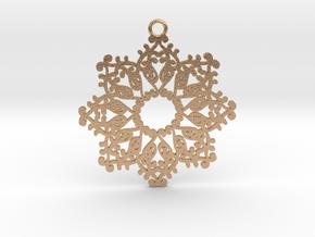 Ornamental pendant no.4 in Natural Bronze