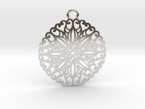 Ornamental pendant no.5 in Platinum