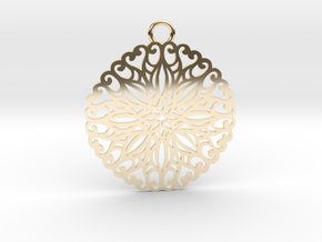 Ornamental pendant no.5 in 14k Gold Plated Brass
