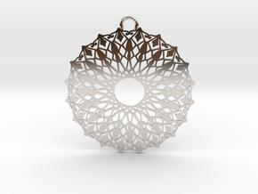Ornamental pendant no.6 in Platinum