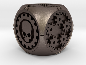 Gear Die in Polished Bronzed-Silver Steel