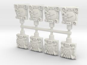 Velocitron/AnimatronPredatron Fistplates (4 each), in White Natural Versatile Plastic