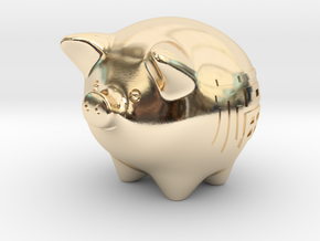 pig in 14k Gold Plated Brass