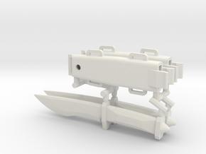 1/6 scale knife inspired by Spriggan x2 NVP in White Natural Versatile Plastic