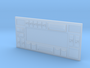 HO Scale Long Sci-Fi Wall in Smooth Fine Detail Plastic