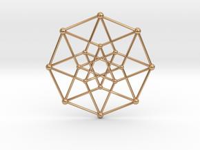 Hypercube Star Pendant in Polished Bronze