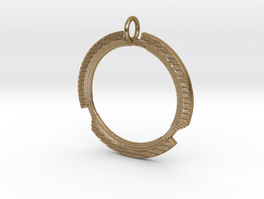 Collared Emblem in Polished Gold Steel