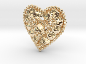 Heart Bone Pendant in 14K Yellow Gold