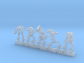 Alien Leaders Sprue in Smooth Fine Detail Plastic: 15mm