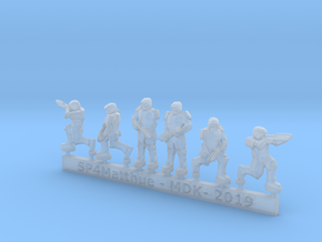 Scifi Marines Sprue A  in Smooth Fine Detail Plastic: 15mm