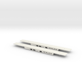 Alstom Class 175 2x Chassis 1/148 in White Natural Versatile Plastic