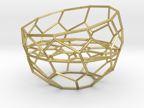 Wire Tealight Holder in Natural Brass