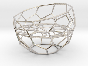Wire Tealight Holder in Rhodium Plated Brass