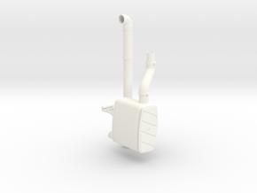 THM 00.2205 Exhaust vertical pipe Tamiya MAN in White Processed Versatile Plastic